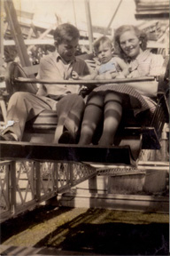 Conrad Berry with parents on Ferris Wheel